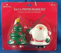 Hallmark Santa & Christmas Tree Salt/Pepper Shakers