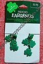 Hallmark Shamrock Pierced Earrings