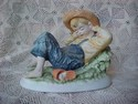 Sleeping Huckleberry Finn Figurine