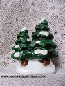 Lefton Colonial Village - Double Ceramic Tree-sold