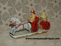 Lefton Colonial Village - Old Fire Pump Wagon-sold