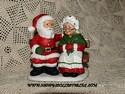 Lefton Colonial Village - Mr. & Mrs. Santa-sold