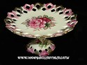 Lefton Rose Decorated Pedestal Compote/Cake Plate
