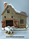 Lefton Colonial Village - Stearn's Stable w/Horses - Retired-sold