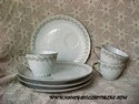 Lefton Golden Laurel Snack Set