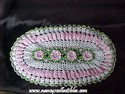 Large Oval Crocheted Doily