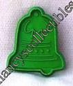 Hallmark Mini Green Christmas Bell Cookie cutter