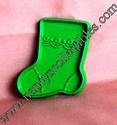 Hallmark Mini Green Stocking With Scallops Cookie cutter