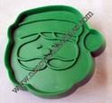 Hallmark Mini Green Santa Face Cookie cutter