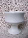 White McCoy Pedestal Planter - sold