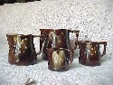 Brown Glazed Measuring Cups