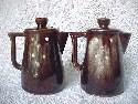 Brown Glazed Salt Shakers