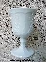 Milk Glass Goblet-Grapes & Leaves Pattern