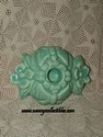 Green Pottery Candle Holder-above