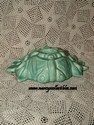 Green Pottery Candle Holder-side