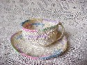 Hand Crocheted Cup & Saucer
