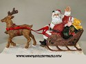 Santa and His Sleigh Figurine