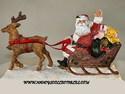 Santa and His Sleigh Figurine