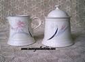 Made In Japan Noritake Monte Flora Creamer and Sugar