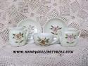 Miniature Pink Flowered Lustreware Tea Set