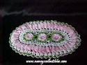 Small Oval Crocheted Doily