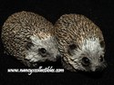 Stone Critters - Hedgehog Pair