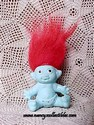 Blue Baby Troll W/Red Hair