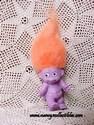 Purple Baby Troll W/Orange Hair