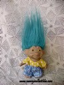 Troll w/turquoise hair-sold