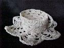 Hand Crocheted White Cup & Saucer