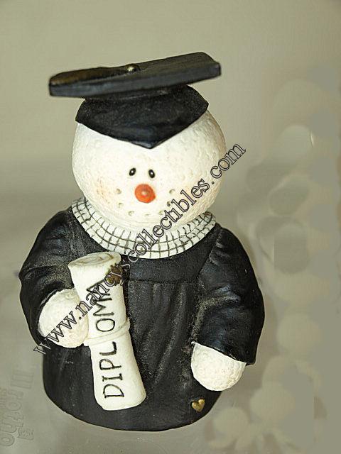 "Snowonders ""Congrads"" Snowman Figurine by Sarah/'s Attic NEW"